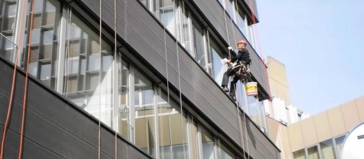 mytí oken ve výšce